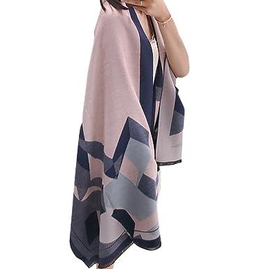 68944555974 Echarpe Foulard Long Doux Mode Nouveau Chaud Automne Hiver pour Femmes   (Bleu Foncé ) Boutique de noel