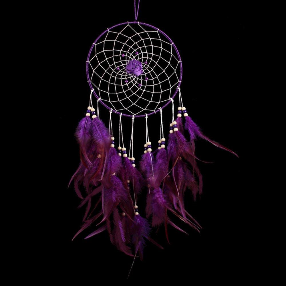 Karleksliv Secret purple big Dream Catchers Traditional Style Dreamcatcher Pendant wall hanging home decoration Gift diameter: 7.87''; Whole Length:19.68'' MS6097