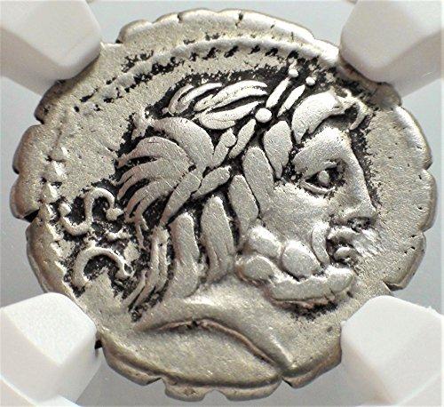 IT c. 83/2 BC Ancient Rome Roman Republic Authentic Antique Silver Coin AR Denarius Serratus Choice Fine NGC Ancient Roman Silver Coins