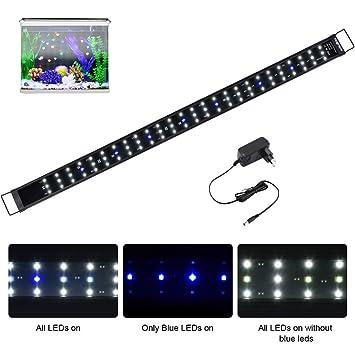 Viugreum Luz LED Acuario, Pantalla LED Acuario, Iluminacion LED para Acuarios Plantados Lampara LED para Peceras 120 cm (120cm)