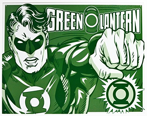 Green Lantern - Duotone Metal Tin Sign 16