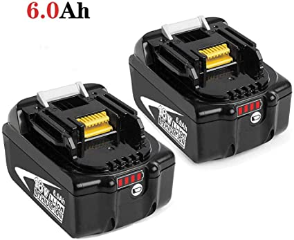 Reoben 18V 5,0Ah BL1850B bater/ía de litio para Makita BL1850B BL1850 BL1840 BL1830 BL1835 BL1845 BL1845 LXT-400 Herramientas el/éctricas inal/ámbricas con indicador