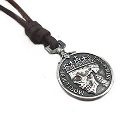 Brown real leather and alloy pendant adiustable necklace mens brown real leather and alloy pendant adiustable necklace mens necklace unisex necklace cool necklac pl231 mozeypictures Gallery