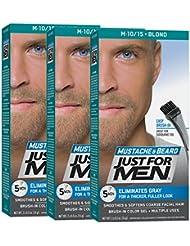 Just For Men Mustache & Beard Brush-In Color Gel, Blond...