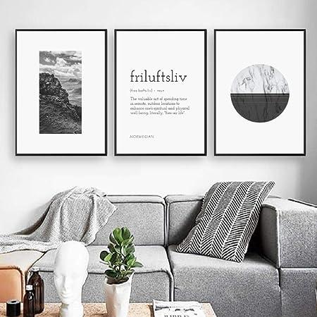 watercolor print black and white wall decor nature minimalist black ink lake Norwegian night gift Moon illustration landscape
