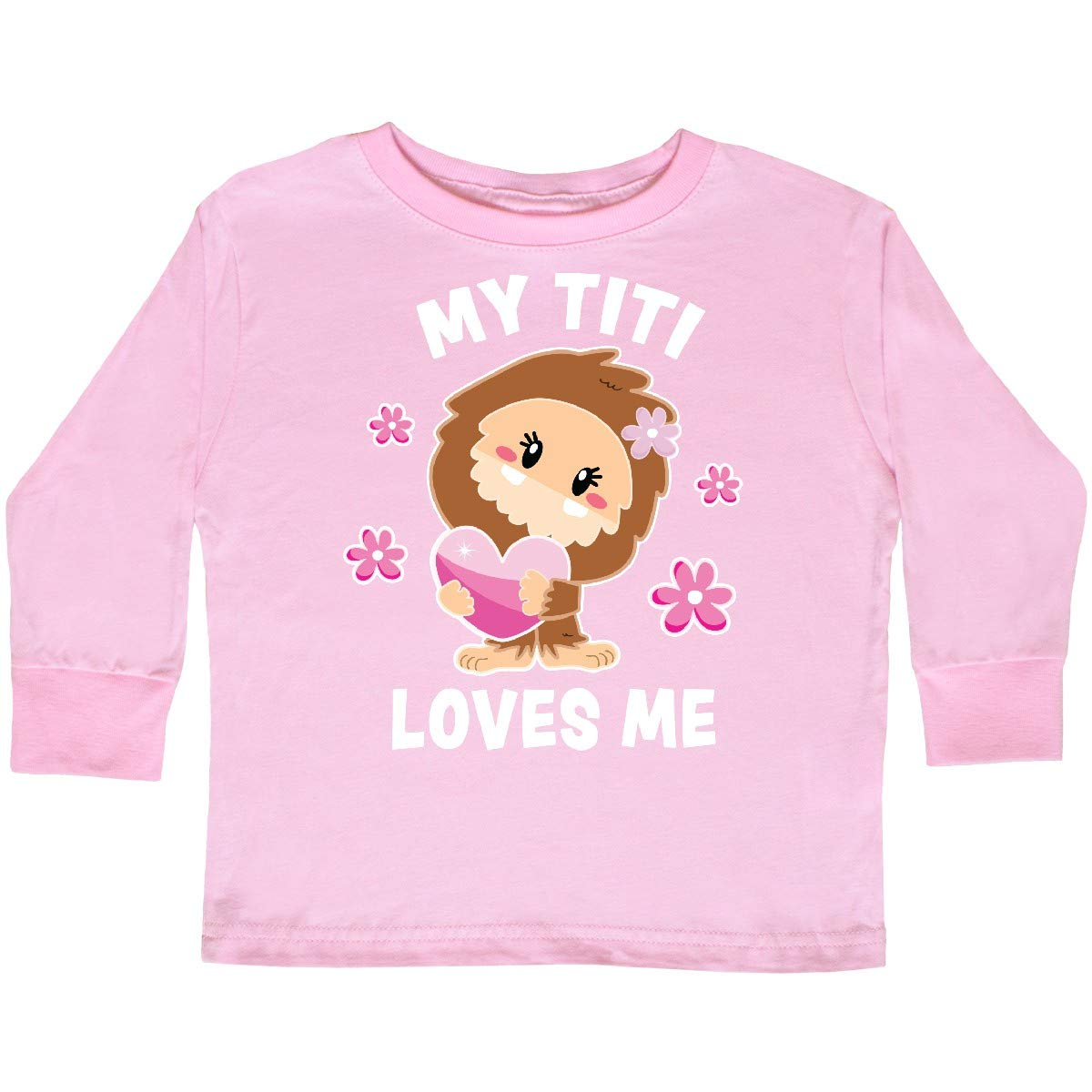 inktastic My Titi Loves Me with Bigfoot Toddler Long Sleeve T-Shirt
