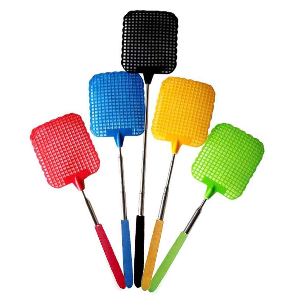Elenxs NEW Rubber Retractable Bug Mosquito Fly Killer Swatter Bat Racket Flapper Catcher