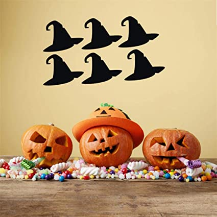 Amazon.com Happy Halloween Witch Hat Top Hat Wall Decals