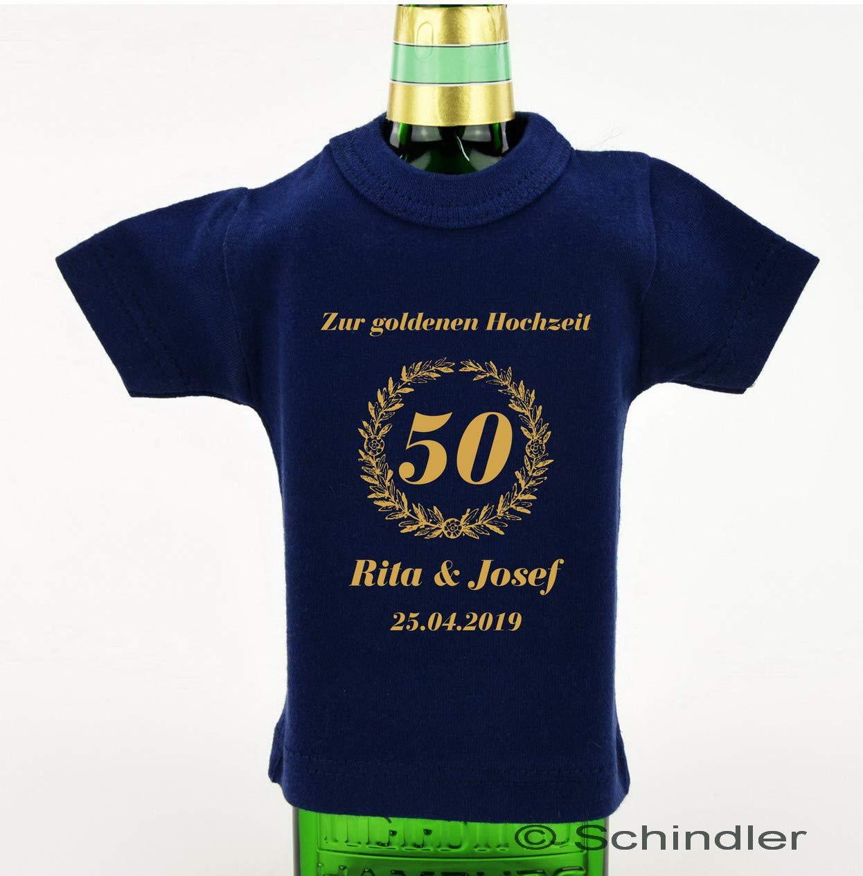 Mini T Shirt Aus Baumwolle Für Flaschen Bedruckt Als