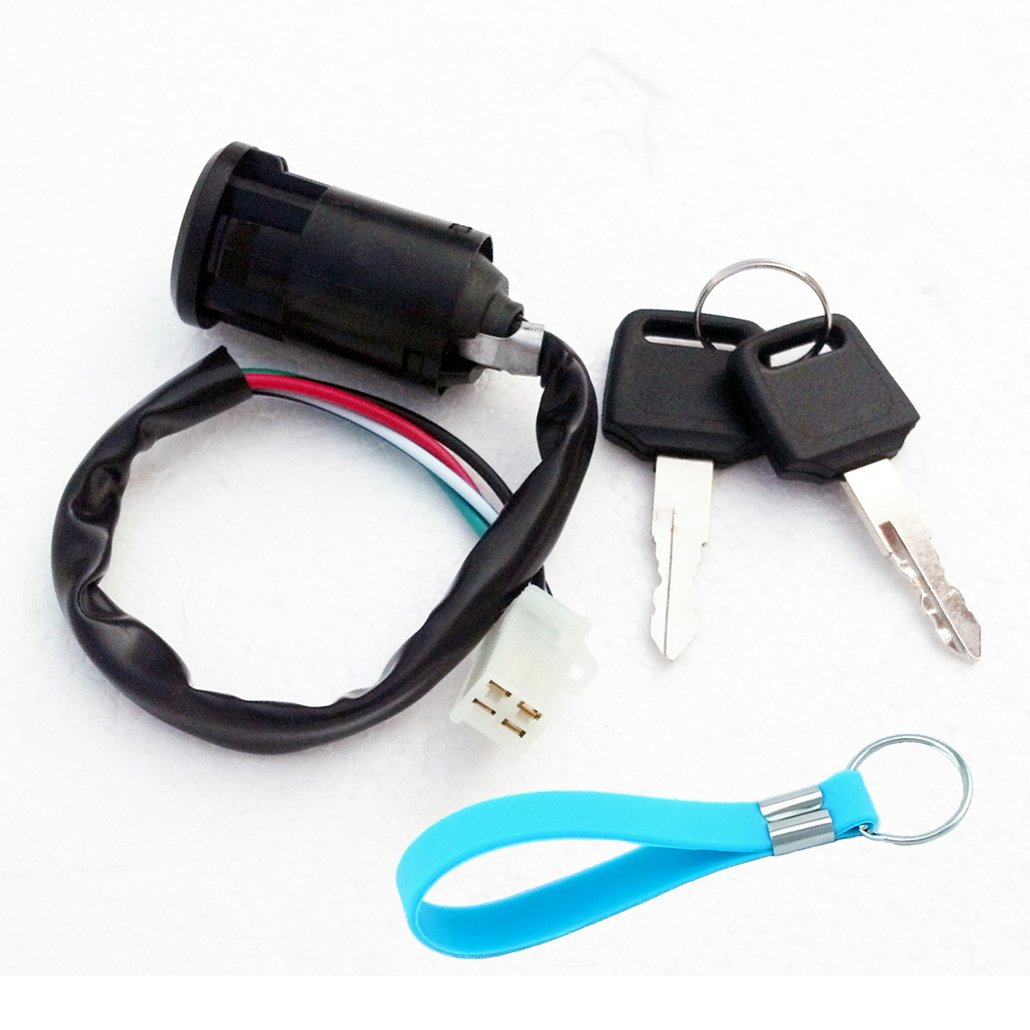 Yingshop Ignition Key Switch for Pocket Dirt Super Bike ATV Scooter 50cc 70cc 90cc 110cc 125cc 150cc 200cc 250cc TaoTao Sunl Buyang Coolsport Kazuma AIM-EX Chinese 4Pins 4 Pin