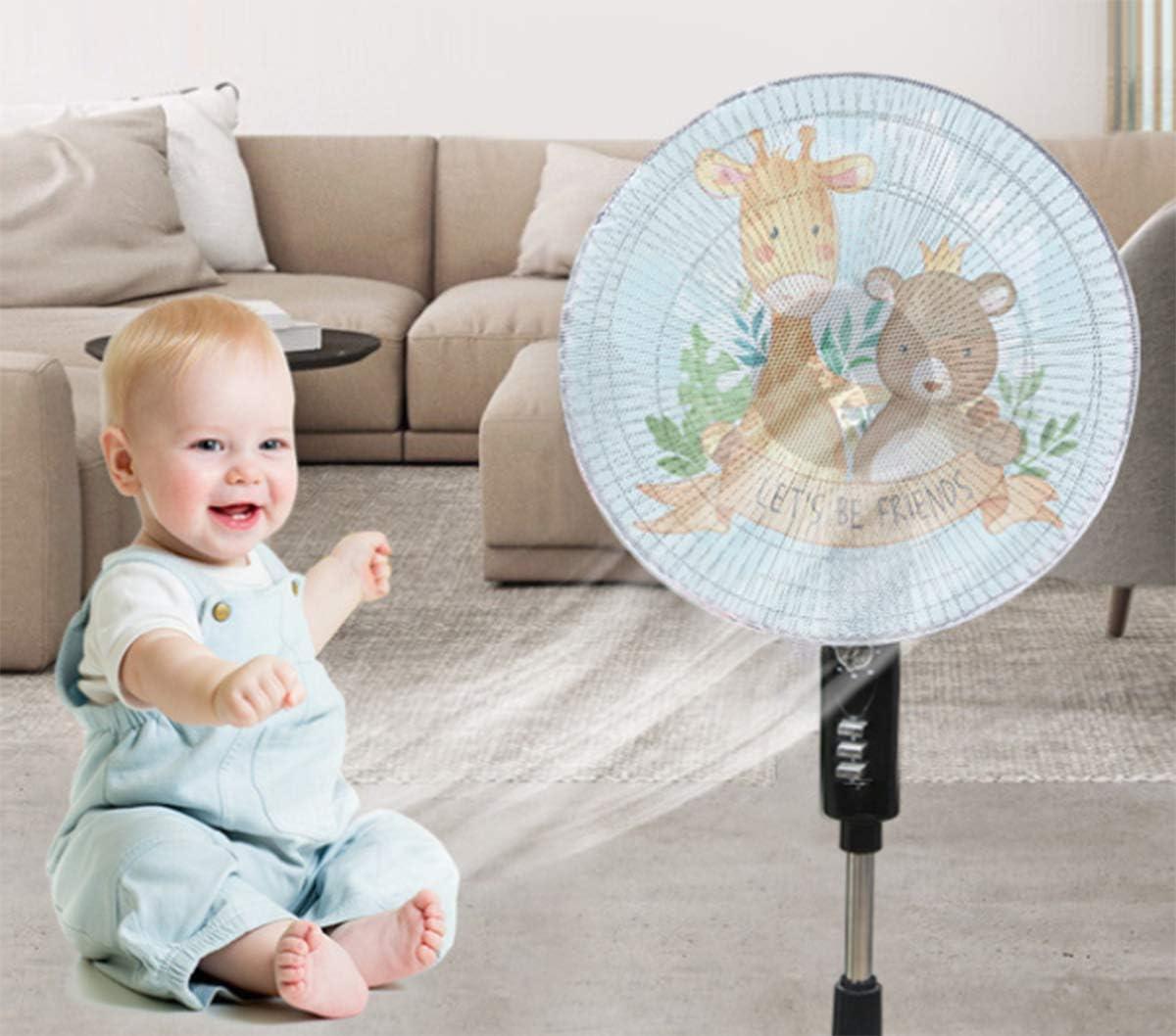 Couvercle anti-poussi/ère pour ventilateur,3 pcs Housse en maille anti-poussi/ère de protection pour enfant /à ventilateur /électrique rond en polyester adapt/ée au ventilateur de table diam/ètre 0~50 cm