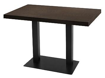 GGM Muebles Bistro Mesa | 110 x 70 cm | Nogal | Madera ...