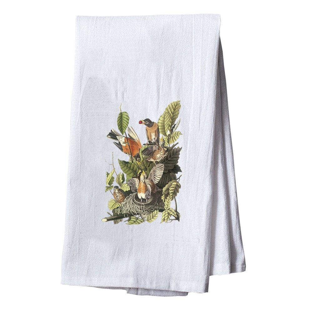 Style In Print American Robin James Audubon Birds Dish Flour Sack Kitchen Towel