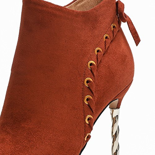 KHSKX-New High Heel Shoes New Winter And Winter Suede Short Boots Women'S Waterproof Table Willow Solid Color Women'S Shoes Thirty-eight 2Gt6VjW3K