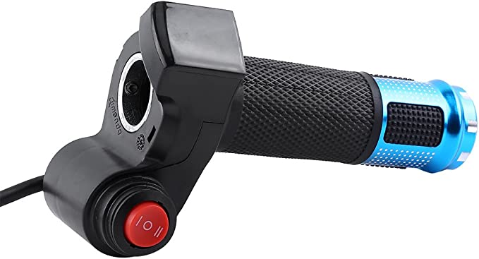 Keenso Throttle Grip Handlebar 4 Colors Twist Throttle Grips 3 Speed With LED Display Screen Handle For Electric Bike