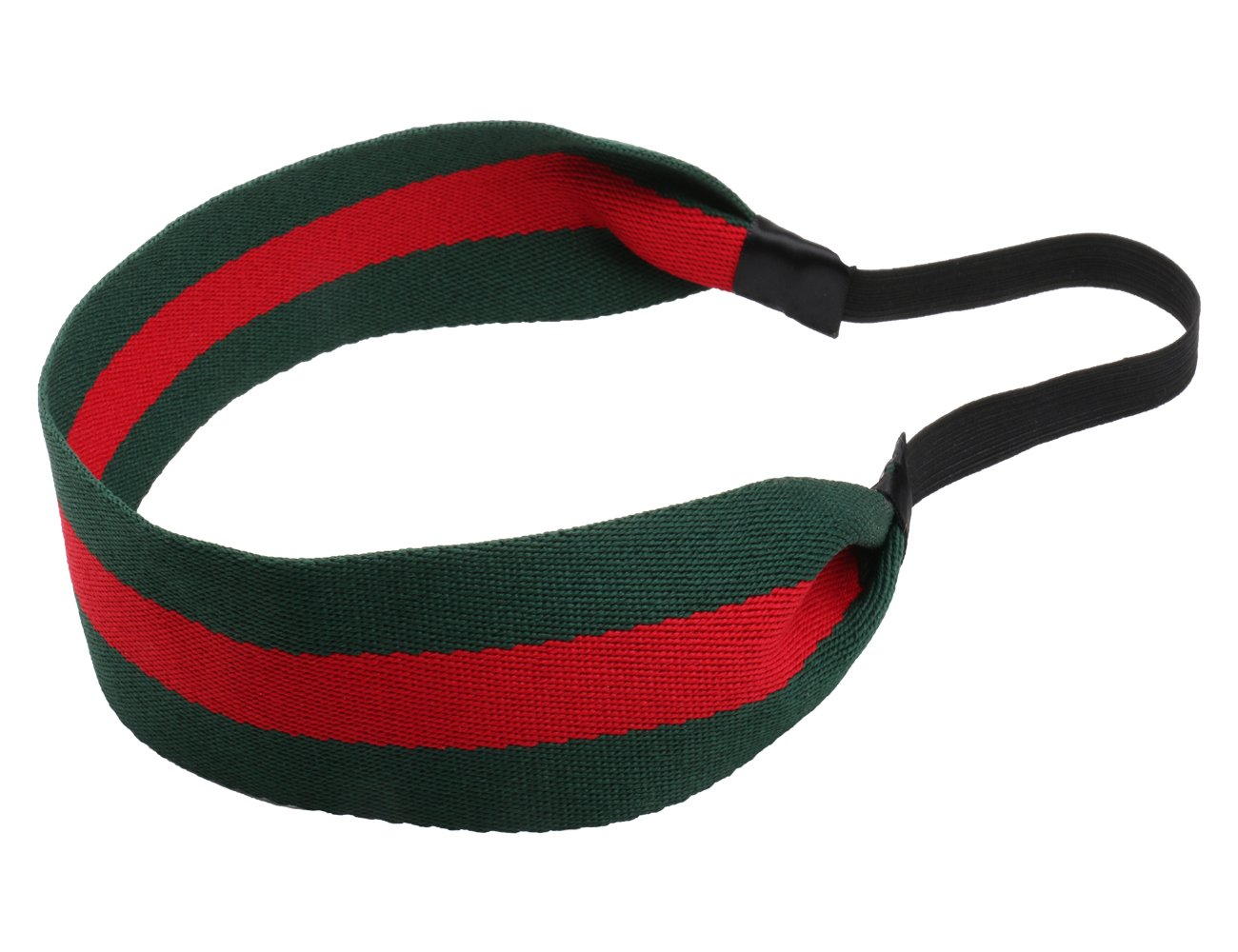 Girliber Handmade Headband Rubber Back, Headband for Women, Head Wear, Green and Red Rubber back