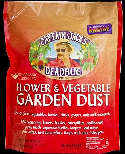 Captain Jacks Deadbug Brew Flower Vegetable Garden Dust 4 Lbs Spinosad 0.001%'' Not Sell or Ship CA; AK; DC; HI
