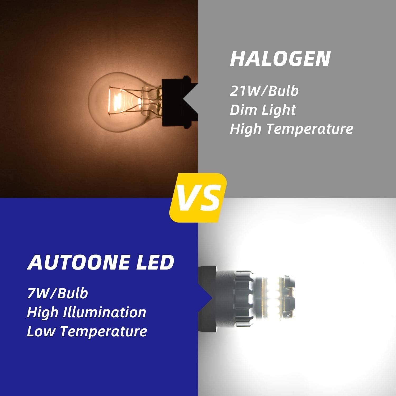 AUTOONE 3056 3156 3156A 3057 4057 4157 LED Bulbs for Backup Reverse Lights 3157 LED Bulbs White Brake Tail Lights
