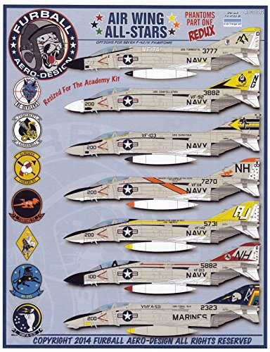 FUR48006R 1:48 Furball Aero Design F-4J F-4N Phantom II Air Wing All-Stars REDUX [WATERSLIDE DECAL - Aero Ii
