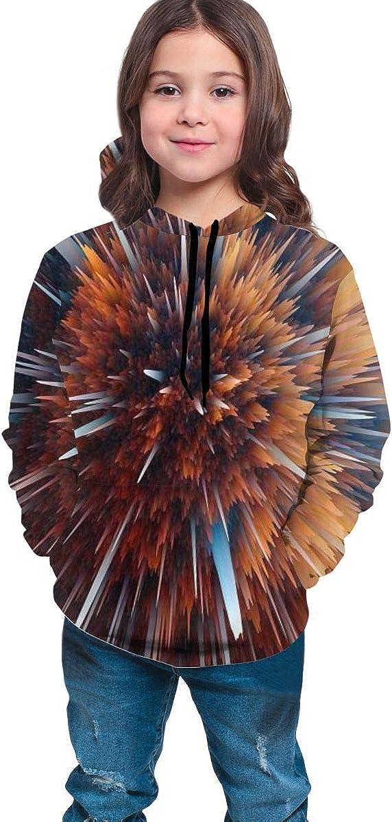 Kjiurhfyheuij Teens Pullover Hoodies with Pocket Particle Explosion Fleece Hooded Sweatshirt for Youth Kids Boys Girls