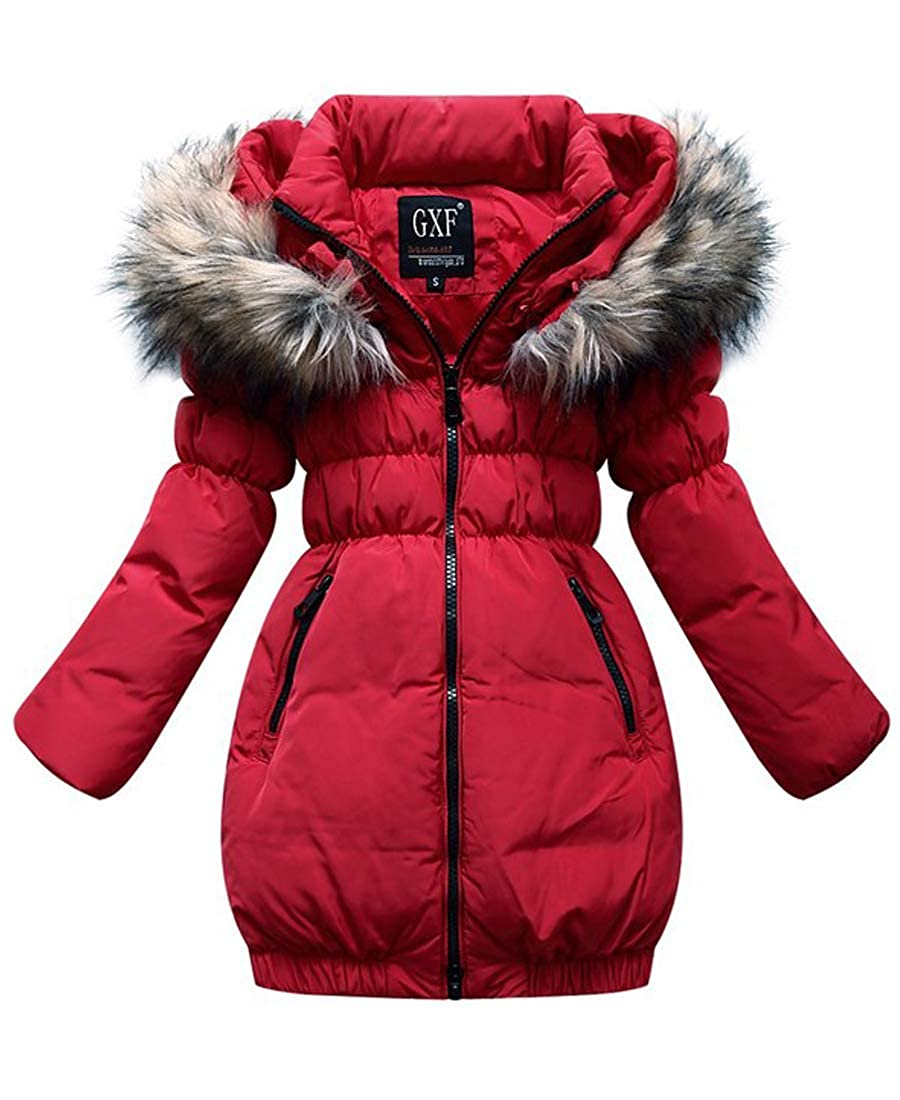 Capturelove Big Girls Fur Hood Down Coat Hooded Winter Jacket