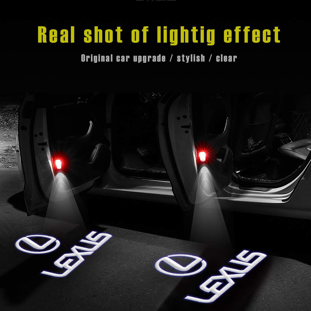 For Honda Car Door LED Logo Projector Light Ghost Shadow Welcome Lights Symbol Emblem Courtesy Step Lights Ground Lamp Kit