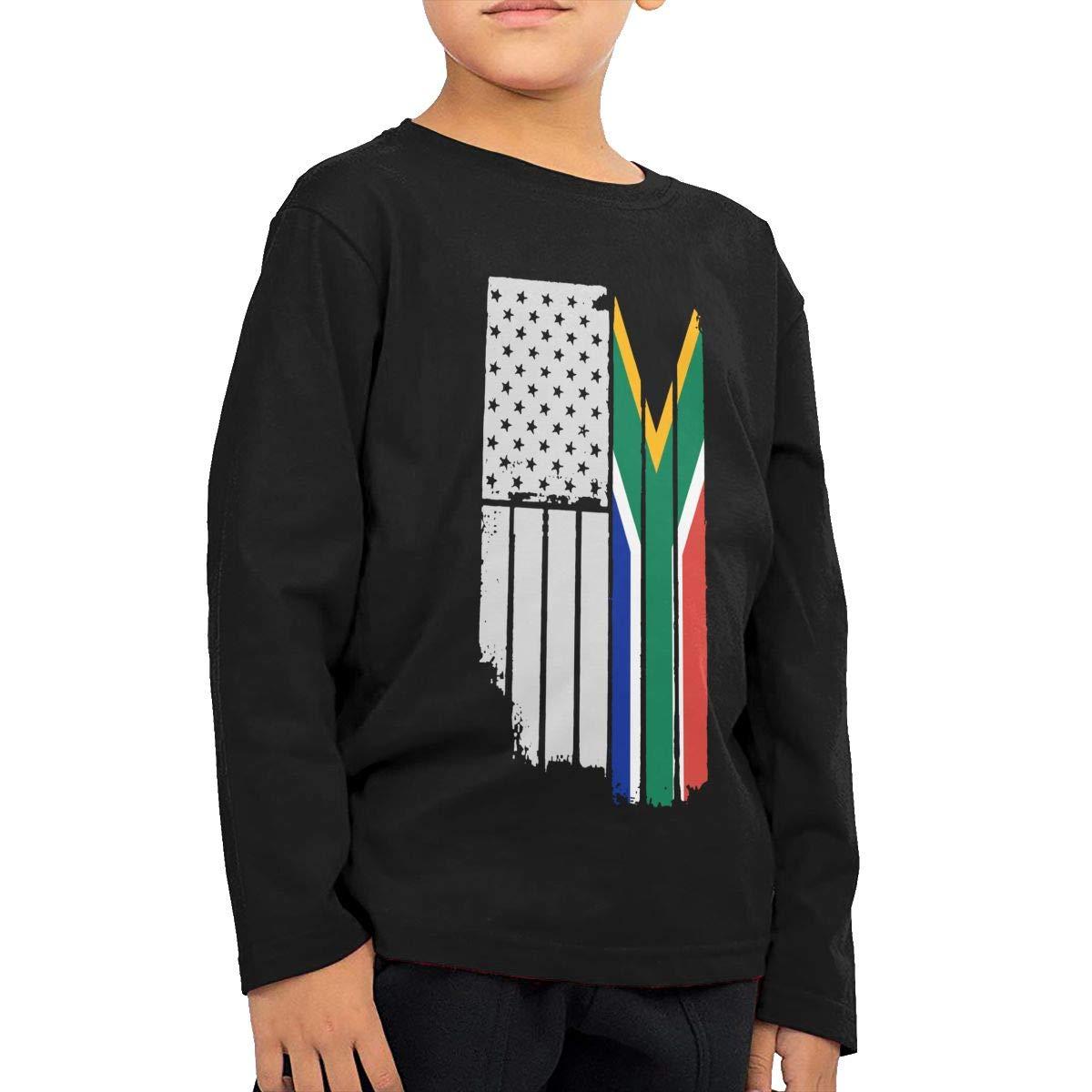 USA Vintage South African Flag Novelty Toddler Kid Baby Boys Girls Long Sleeve Shirt Top/&Tee