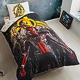 ALWAYS_CHEAPEST 100% Turkish Cotton 3 PCS!! Avengers Infinity WAR Spiderman Captain America Groot Iron Man Black Widow Hulk Thor Single Twin Size Ranforce Quilt Duvet Cover Set Bedding