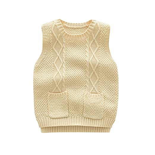 Weentop Suéteres para niños Tejido de algodón Cuello Redondo ...