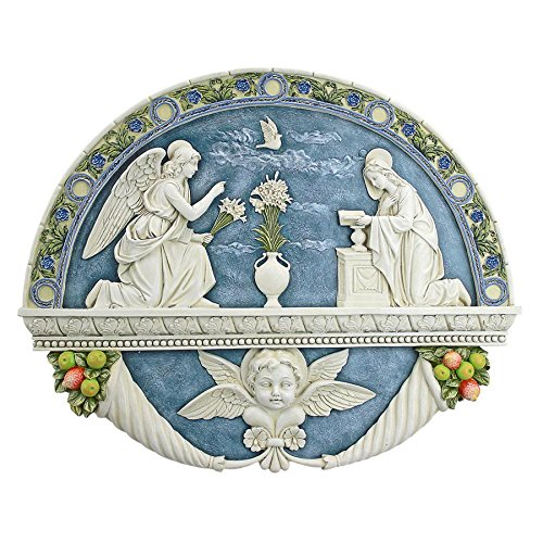 Design Toscano The Annunciation to the Virgin Mary by Della Robbia Wall Sculpture Gabriel Wall Plaque