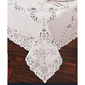 Amazon Com Crochet Lace Vinyl Tablecloth 54 Inch By 72
