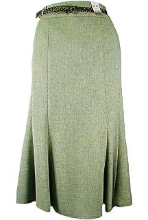 55ac3c30b1 Ladies Vintage Style Stone Plaited Belt A-Line Skirt (16): Amazon.co ...