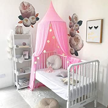 Cotton Linen Canopy Bedcover Mosquito Net Dome Hanging Bed Canopy Curtain Bedding Decoration Insect-Proof & Cotton Linen Canopy Bedcover Mosquito Net Dome Hanging Bed Canopy ...