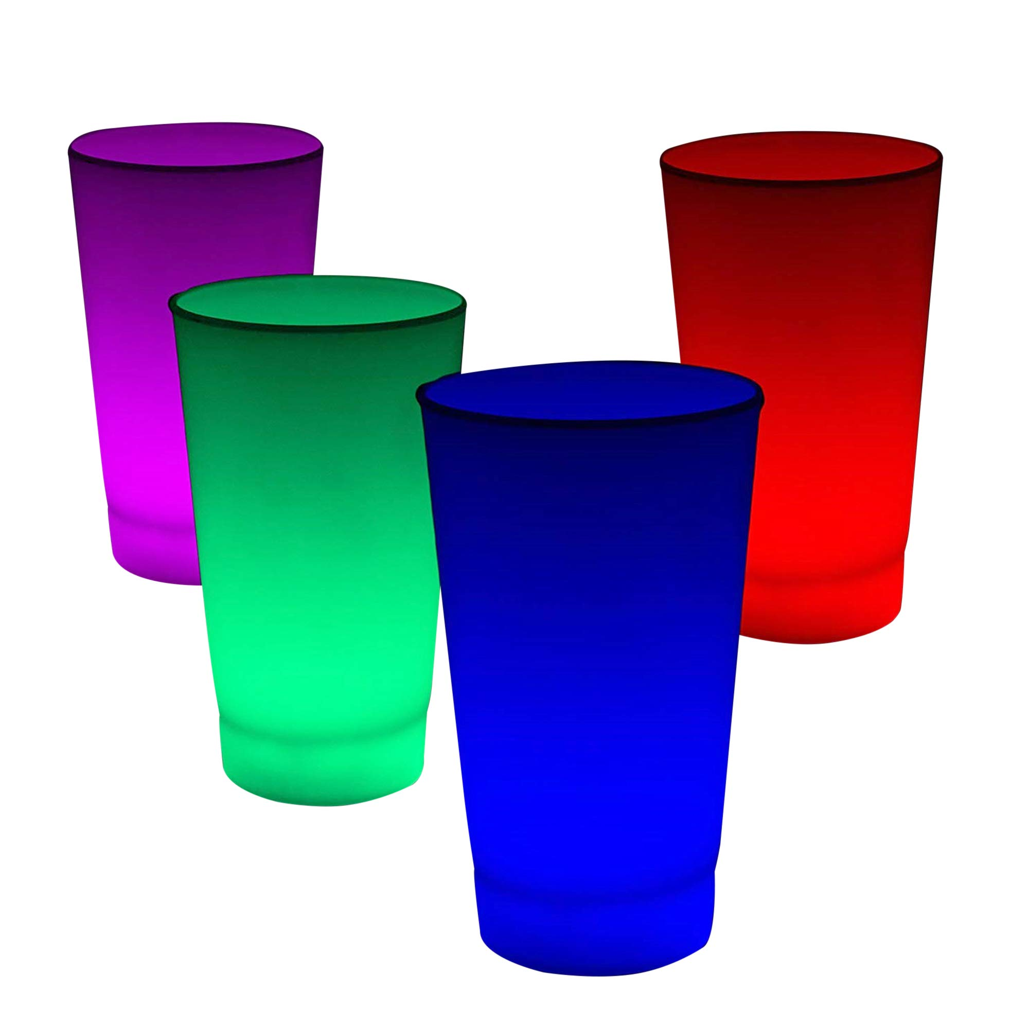 6 Pack - Multicolor Glow in The Dark LED Light Up Cup for Parties