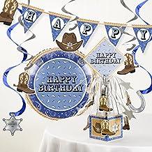 Blue Banadana Cowboy Birthday Party Decorations Kit