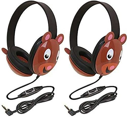 Califone 2810-BE Listening First Stereo Headphone, Bear Motif – Pack of 2