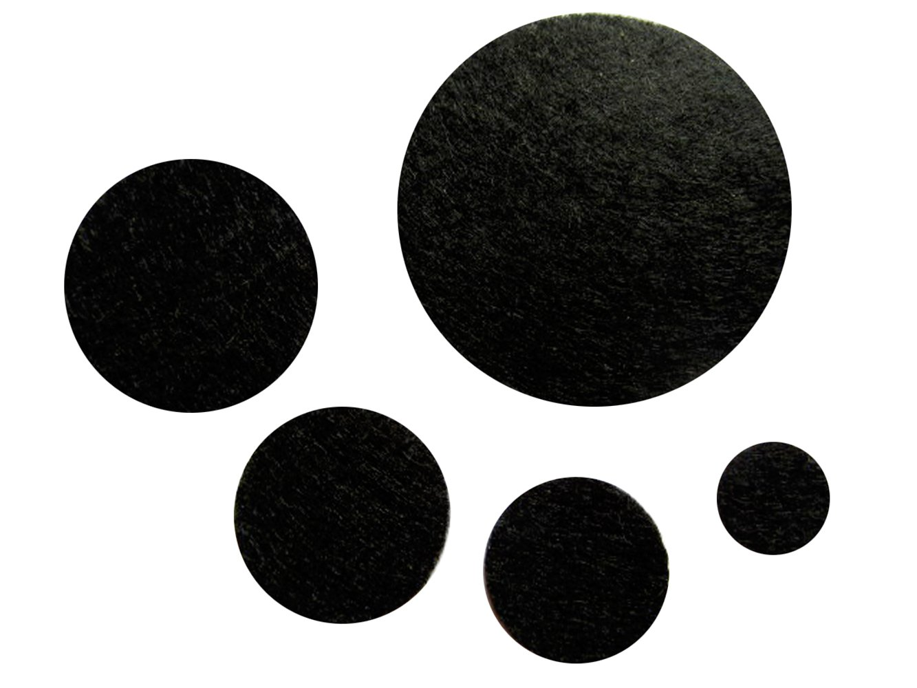 YYCRAFT 200 Pcs Adhesive Felt Circles for DIY and Sewing Handcraft Various Package Sizes Wholesale , White Die Cut DIY Projects 1//2 10mm