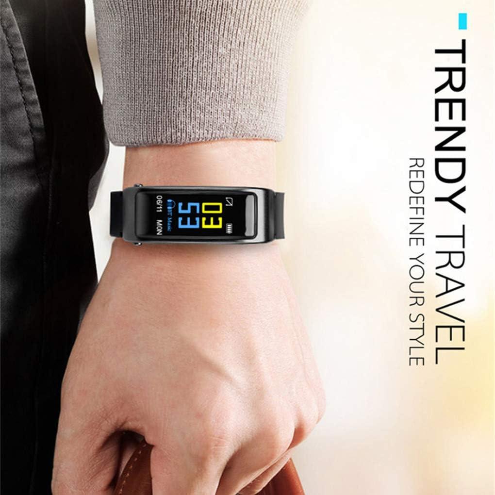 Schwarz Luckiests Y3Plus 2-in-1 Smart Armband Blueteeth Kopfh/örer Smartwatch Herzfrequenz Schrittz/ähler Wecker Fitness Tracker