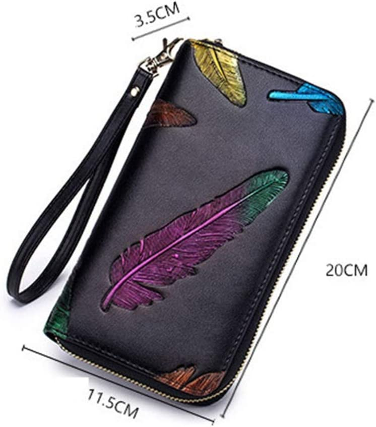 ZhiGe Womens Wallet Fashion Organ Purse Ladys Large Multi-Card bit Leather Big-Capacity Wallet 3.52011.5cm