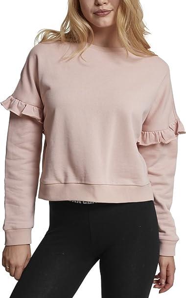 TALLA XS. Urban Classics Ladies Oversize Volant Crewneck Suéter para Mujer