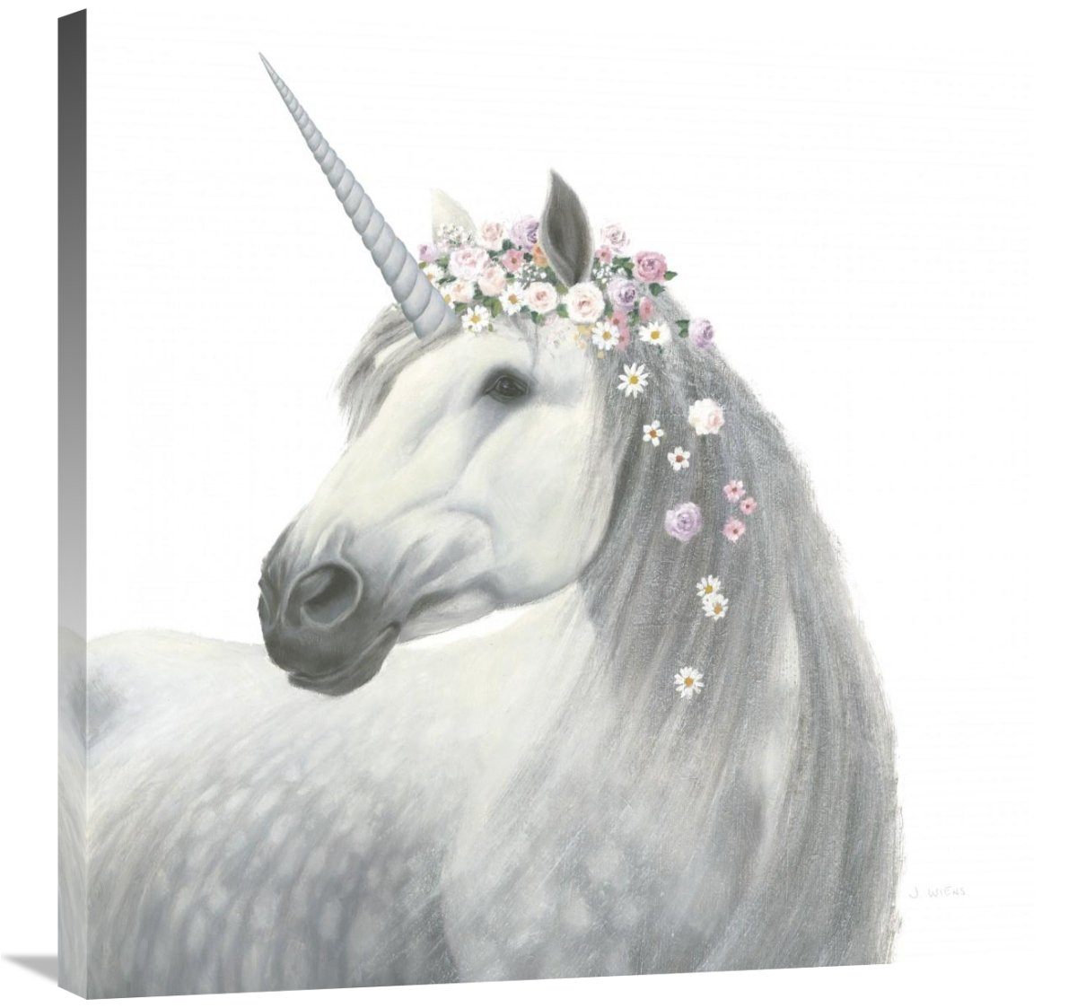 Global Gallery James Wiens, Spirit Unicorn II Square' Giclee Stretched Canvas Artwork, 30 x 30''