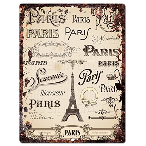 Paris Chic Sign Rustic Shabby Vintage style Retro Kitchen