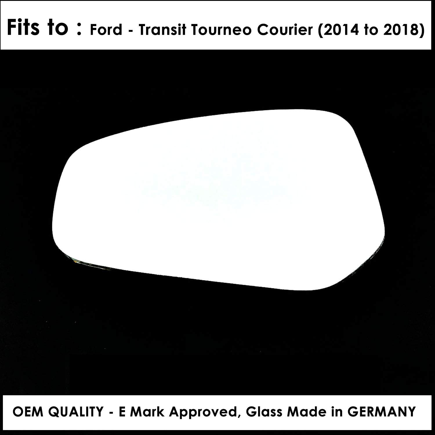 Left Hand Side Door Mirror Glass Convex For FRD-Transit Tourneo Courier Year 2014 To 2018