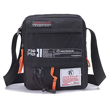 ec4f2c6c29f9 JAKAGO Waterproof Messenger Bag Shoulder Crossbody Bag Mobile Phone Pouch  Passport Holder Mens Purse Bag 10.1