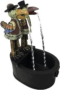 TOROFO Crow Water Statue, Fountain Courtyard Art Decoration, Funny Resin Crow Water Fountain Statue, Outdoor Metal Crow Water Fountain Yard Art Decor, for Garden, Patio, Deck, Porch (01- Woodpecker)