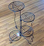 Worth Garden 4-Tiered Powder Coating Metal Foldable Flower Pot Stand, Home & Office Patio Decorative Display Shelf,Plant Standing Rack Holds
