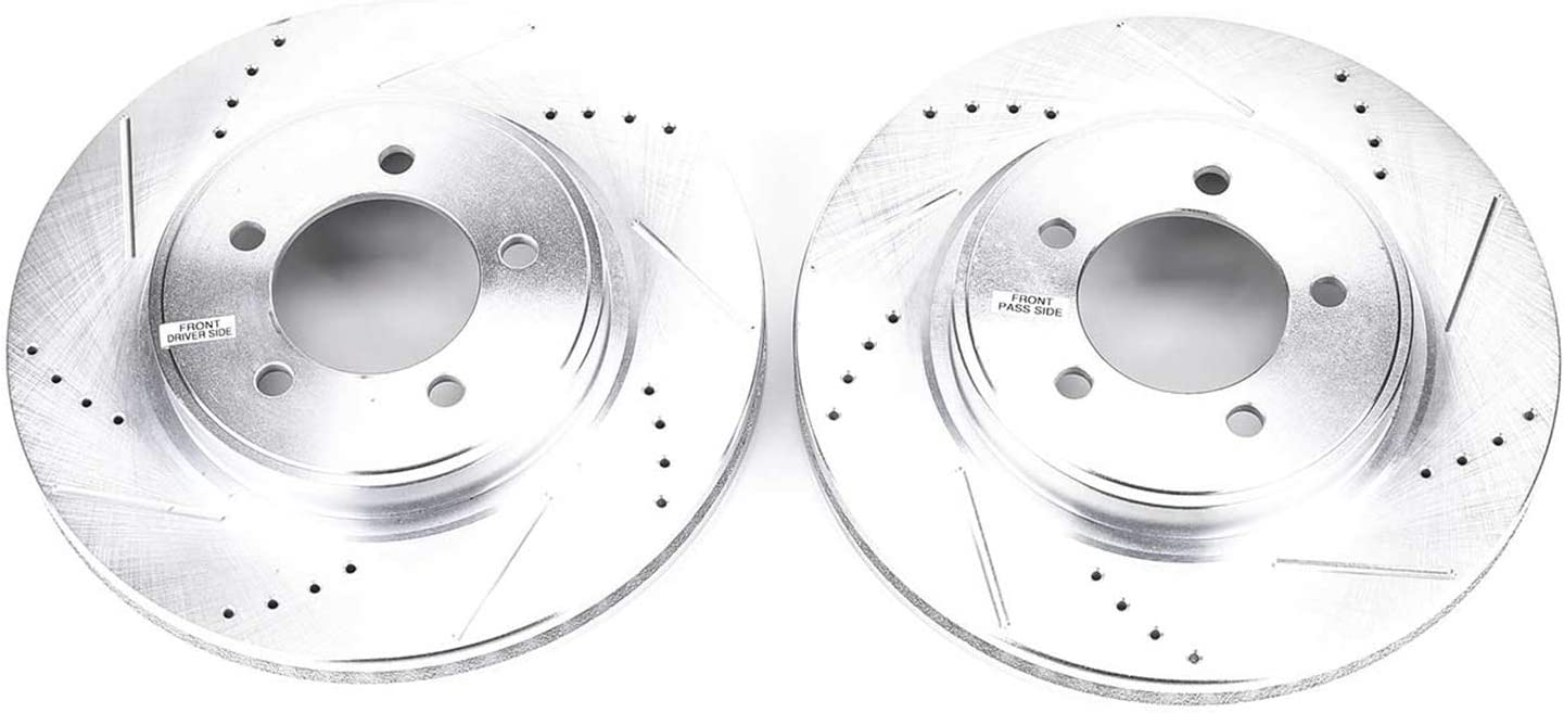 Power Stop AR82112XPR Front Evolution Drilled /& Slotted Rotor Pair