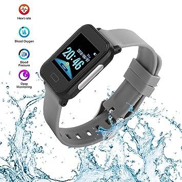 Tosuny Reloj Inteligente HR, Impermeable Smartwatch Bluetooth con ...