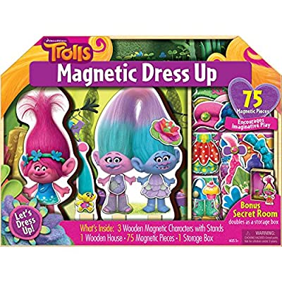 Bendon AS92757 Trolls 75-Piece Magnetic Wooden Dollhouse: Toys & Games