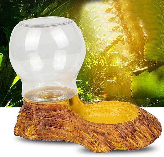 POPETPOP Dispensador Automático de Agua para Reptiles, Bebederos para Animales Pequeños, Reptiles Anfibios Dispensador para Tortuga Lagarto Tortuga Gecko Camaleón